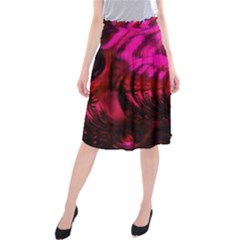 Abstract Bubble Background Midi Beach Skirt