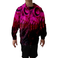 Abstract Bubble Background Hooded Wind Breaker (Kids)
