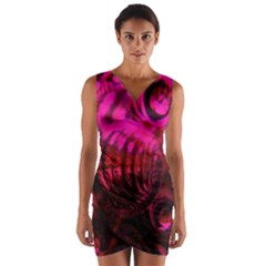 Abstract Bubble Background Wrap Front Bodycon Dress