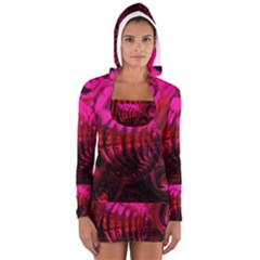 Abstract Bubble Background Women s Long Sleeve Hooded T-shirt