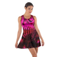 Abstract Bubble Background Cotton Racerback Dress