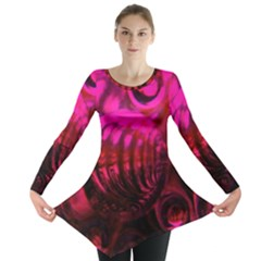 Abstract Bubble Background Long Sleeve Tunic