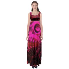 Abstract Bubble Background Empire Waist Maxi Dress