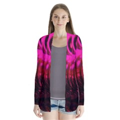 Abstract Bubble Background Cardigans