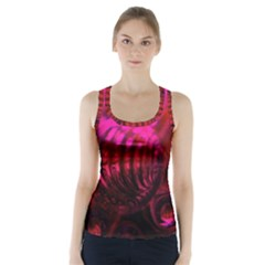 Abstract Bubble Background Racer Back Sports Top
