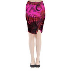 Abstract Bubble Background Midi Wrap Pencil Skirt