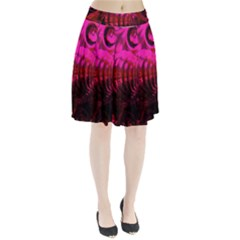 Abstract Bubble Background Pleated Skirt