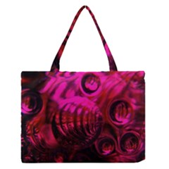 Abstract Bubble Background Medium Zipper Tote Bag