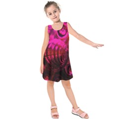 Abstract Bubble Background Kids  Sleeveless Dress