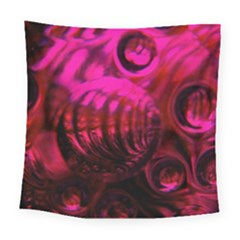 Abstract Bubble Background Square Tapestry (large)