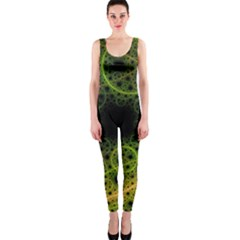 Abstract Circles Yellow Black OnePiece Catsuit
