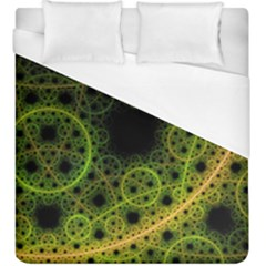 Abstract Circles Yellow Black Duvet Cover (king Size)