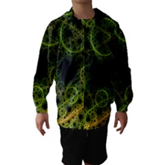 Abstract Circles Yellow Black Hooded Wind Breaker (kids)
