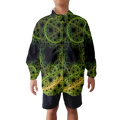 Abstract Circles Yellow Black Wind Breaker (Kids)