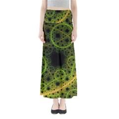 Abstract Circles Yellow Black Maxi Skirts