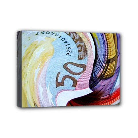 Abstract Currency Background Mini Canvas 7  X 5