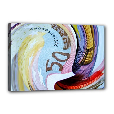 Abstract Currency Background Canvas 18  X 12