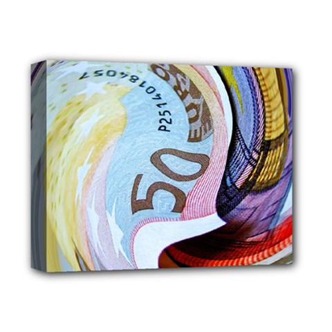 Abstract Currency Background Deluxe Canvas 14  X 11