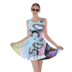 Abstract Currency Background Skater Dress