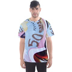 Abstract Currency Background Men s Sport Mesh Tee