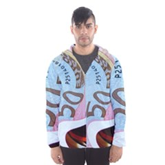 Abstract Currency Background Hooded Wind Breaker (men)