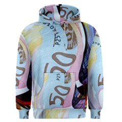 Abstract Currency Background Men s Pullover Hoodie