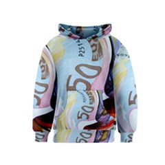 Abstract Currency Background Kids  Pullover Hoodie