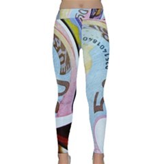 Abstract Currency Background Classic Yoga Leggings