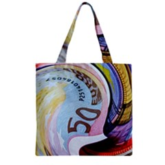 Abstract Currency Background Zipper Grocery Tote Bag