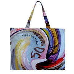 Abstract Currency Background Zipper Mini Tote Bag
