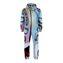 Abstract Currency Background Hooded Jumpsuit (kids)