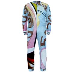 Abstract Currency Background Onepiece Jumpsuit (men)