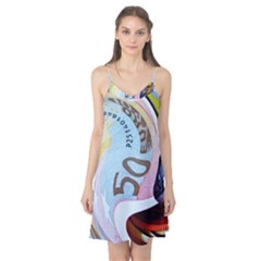 Abstract Currency Background Camis Nightgown