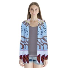 Abstract Currency Background Cardigans