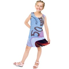 Abstract Currency Background Kids  Tunic Dress