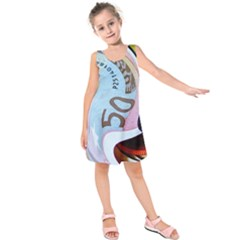 Abstract Currency Background Kids  Sleeveless Dress