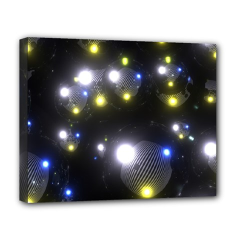 Abstract Dark Spheres Psy Trance Deluxe Canvas 20  X 16