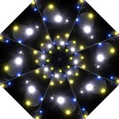 Abstract Dark Spheres Psy Trance Golf Umbrellas