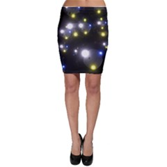 Abstract Dark Spheres Psy Trance Bodycon Skirt