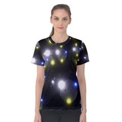 Abstract Dark Spheres Psy Trance Women s Cotton Tee