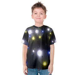Abstract Dark Spheres Psy Trance Kids  Cotton Tee