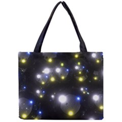 Abstract Dark Spheres Psy Trance Mini Tote Bag