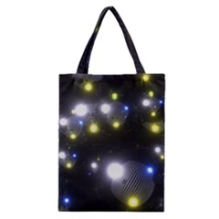 Abstract Dark Spheres Psy Trance Classic Tote Bag