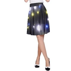 Abstract Dark Spheres Psy Trance A Line Skirt
