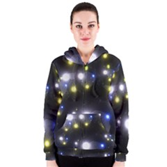 Abstract Dark Spheres Psy Trance Women s Zipper Hoodie