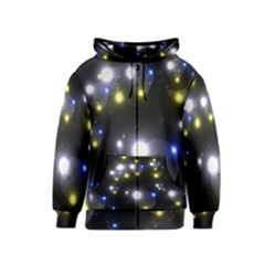 Abstract Dark Spheres Psy Trance Kids  Zipper Hoodie