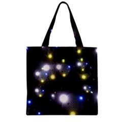 Abstract Dark Spheres Psy Trance Zipper Grocery Tote Bag