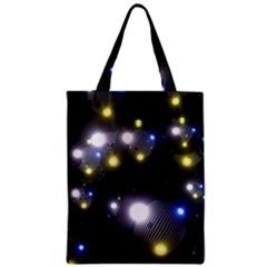 Abstract Dark Spheres Psy Trance Zipper Classic Tote Bag