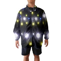 Abstract Dark Spheres Psy Trance Wind Breaker (kids)