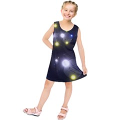 Abstract Dark Spheres Psy Trance Kids  Tunic Dress